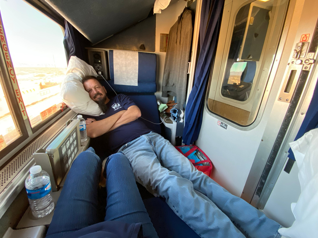 "Amtrak's Texas Eagle ""roomette"""